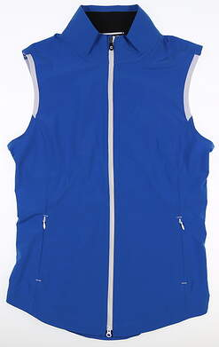 New Womens Footjoy Stretch Woven Vest Small S Royal MSRP $80 27572