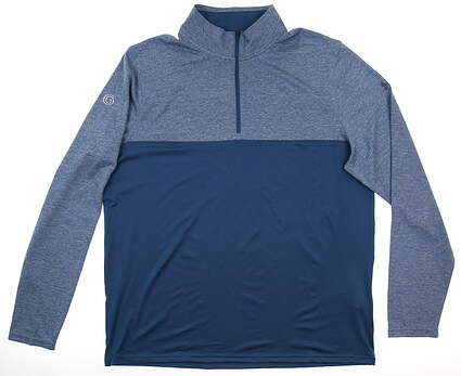 New W/ Logo Mens Under Armour 1/4 Zip Pullover X-Large XL Blue MSRP $70 UM7183