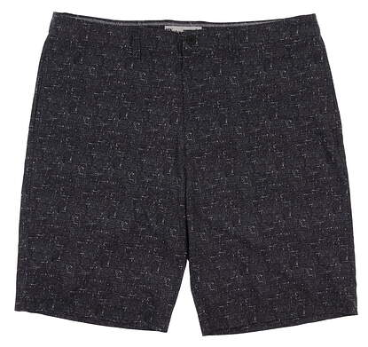 New Mens Travis Mathew Gunner Shorts 36 Black MSRP $80 1MK081