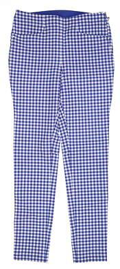 New Womens Ralph Lauren RLX Golf Pants 4 Blue/ White MSRP $188
