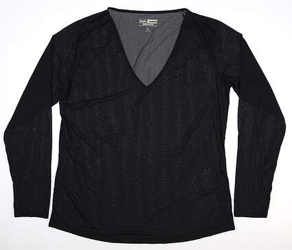 New Womens Jamie Sadock Sunsense Long Sleeve X-Large XL Black MSRP $59 61127