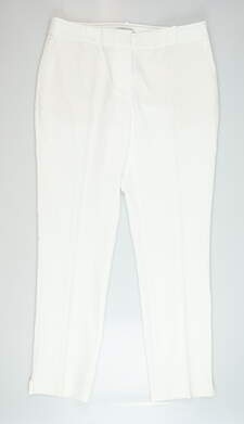 New Womens Fairway & Greene Lucy Pants 10 White MSRP $129 E12284