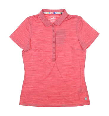 New Womens Puma Daily Golf Polo Small S Rapture Rose 595826 MSRP $60