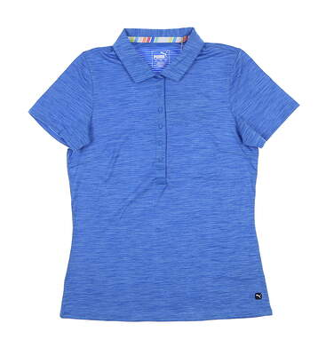 New Womens Puma Daily Sport Polo Small S Palace Blue 595826 MSRP $60