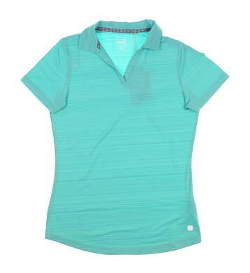 New Womens Puma Coastal Golf Polo Small S Blue Turquoise 595136 MSRP $55