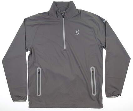 New W/ Logo Mens Puma 1/2 Zip Wind Jacket Large L Quiet Shade MSRP $80 572297 03