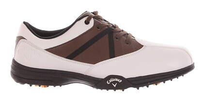 New Mens Golf Shoe Callaway Chev Comfort Medium 9 White M171 MSRP $130