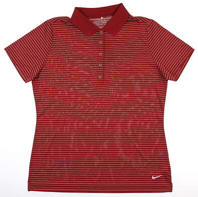 New Womens Nike Golf Polo Large L Maroon MSRP $50