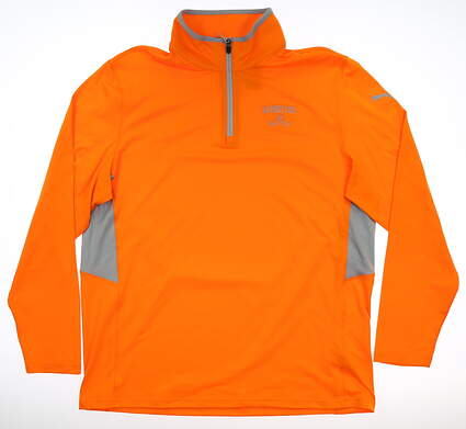 New W/ Logo Mens Puma Rotation 1/4 Zip Pullover Large Orange MSRP $65 577900 08