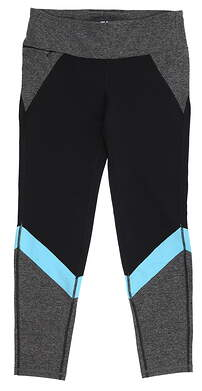 New Womens Footjoy Color Block Leggings Large L Black MSRP $78 23922
