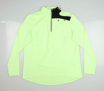 New Womens Jamie Sadock 1/4 Zip Pullover Small S Green MSRP $93 91100