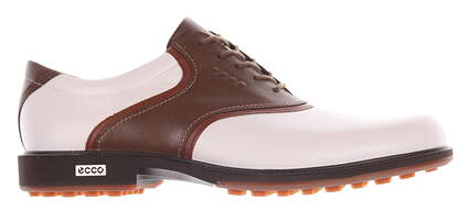 New Mens Golf Shoe Ecco Tour Hybrid 8 White/Brown 14154458249 MSRP $280