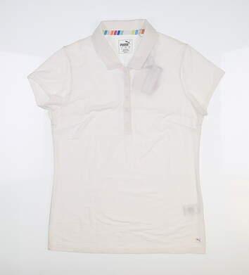 New Womens Puma Fusion Golf Polo Small S Bright White 595825 MSRP $60