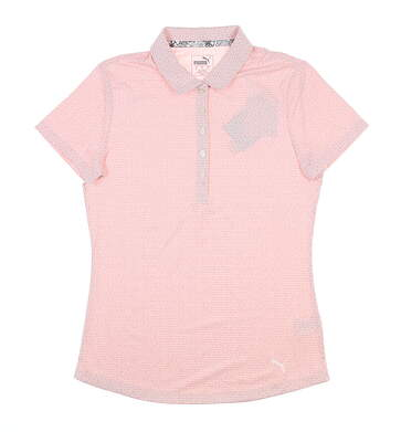 New Womens Puma Swifit Golf Polo Small S Pale Pink 577922 MSRP $55