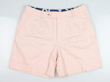 New Womens Peter Millar Shorts 8 Coral MSRP $99