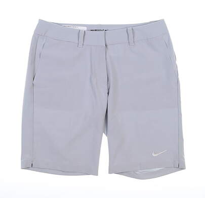 New Womens Nike Golf Shorts 4 Gray MSRP $85