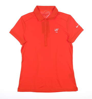 New Womens Nike Polo Small S Orange MSRP $65 725582