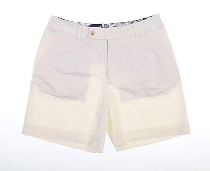 New Womens Peter Millar Golf Shorts 2 White MSRP $99