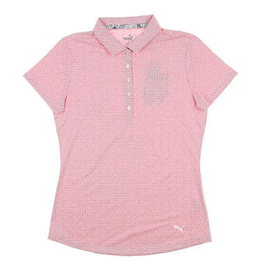 New Womens Puma Swfit Golf Polo Small S Azalea 577922 MSRP $55