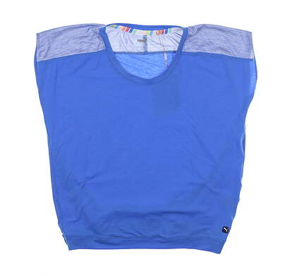 New Womens Puma Slouchy T-Shirt Small S Palace Blue 595839 MSRP $60