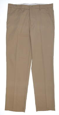 New Mens Greg Norman Hybrid Flat Front Pants 35 x32 Bamboo MSRP $65 G7S4P700
