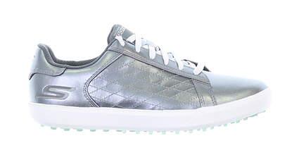 New Womens Golf Shoe Skechers Go Golf Drive Shine Medium 6.5 Silver MSRP $109