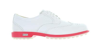 New Womens Golf Shoe Ecco Classic Hybrid Medium 6 White/Pink 11103358 MSRP $220