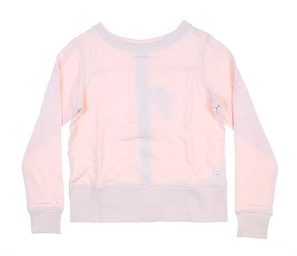 New Womens Puma Long Sleeve Crew Neck Zip Small Rosewater 595849 MSRP $72