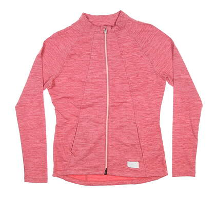 New Womens Puma Full Zip Mock Neck Warm Up Small S Pink 595850 MSRP $80