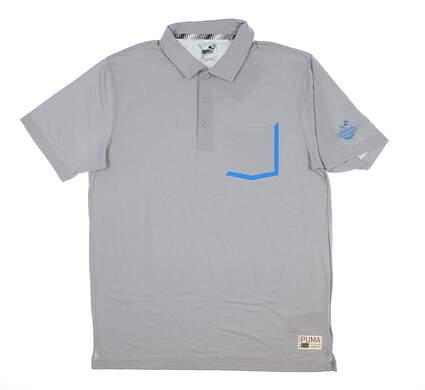 New W/ Logo Mens Puma Faraday Polo Large L Quarry 577878 MSRP $70
