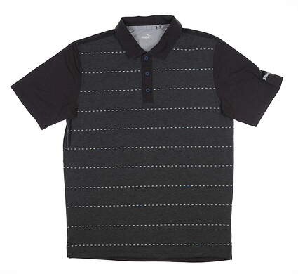 New Mens Puma Fusion Dot Polo Medium M Puma Black 595790 MSRP $75