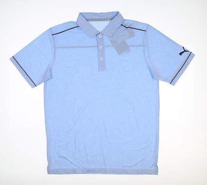 New Mens Puma Rancho Polo Medium M Blue Bell 595783 MSRP $65