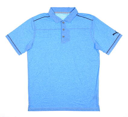 New Mens Puma Rancho Polo Medium M Ibiza Blue 595783 MSRP $65
