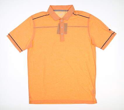 New Mens Puma Rancho Polo Medium M Cantaloupe 595783 MSRP $65