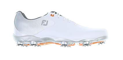 New Mens Golf Shoe Footjoy DNA Helix Medium 11.5 White/Orange 53316 MSRP $209.99