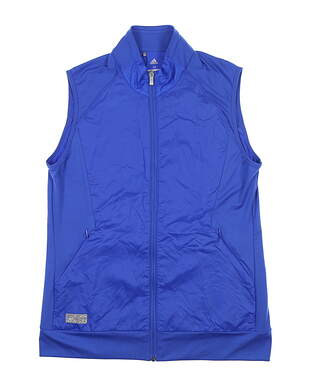 New Womens Adidas Tech Wind Vest Small S Blue CE0537 MSRP $75