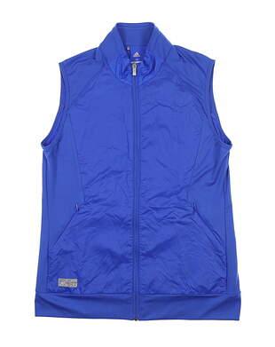New Womens Adidas Tech Wind Vest Medium M Blue CE0537 MSRP $75