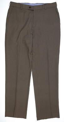 New Mens Peter Millar Golf Pants 34x32 Brown MSRP $115 MS15EB50FB