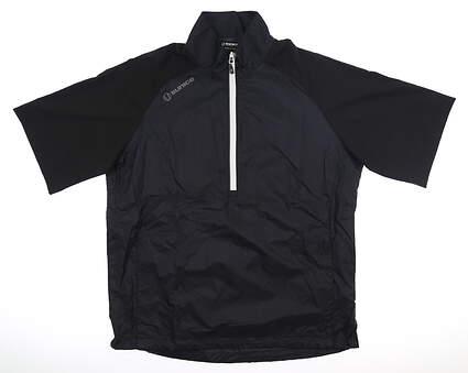 New Mens SUNICE Short Sleeve Wind Jacket Large L Black MSRP $75 S53002