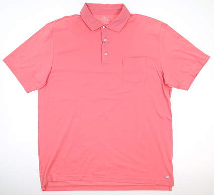New Mens Peter Millar Golf Polo Large L Pink MSRP $78 MS17K70P