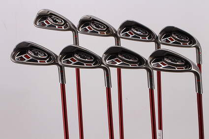 Ping G15 Iron Set 5-PW GW SW Ping TFC 149I Graphite Senior Right Handed Red dot 37.75in