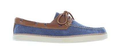 New Mens Golf Shoe Peter Millar Boat Shoes Medium 9 Blue MS19F0 MSRP $220