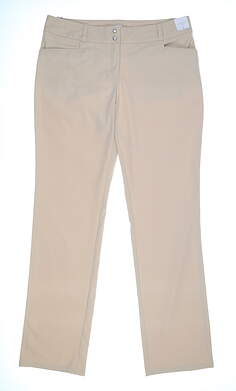 New Womens Adidas LIghtweight Pants 8 Tan MSRP $75 AE8910