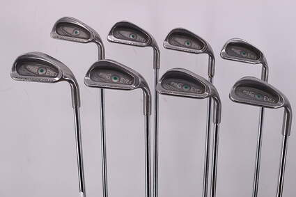 Ping Eye 2 + Iron Set 3-PW Rifle 5.5 Steel Regular Right Handed Green Dot 38.75in