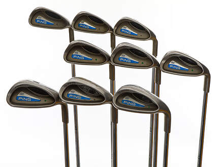 Ping G2 Iron Set 4-PW SW LW Ping CS Lite Steel Stiff Right Handed Green Dot 37.75in