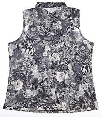 New Womens Nike Sleeveless Polo X-Large XL Gray MSRP $60 AJ5327