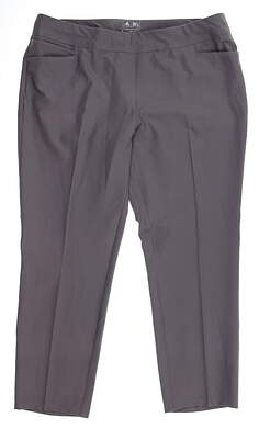 New Womens Adidas Pull On Ankle Pants Large L Gray MSRP $75 BC1940