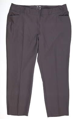 New Womens Adidas Ankle Pants X-Large XL Gray MSRP $75 BC1940