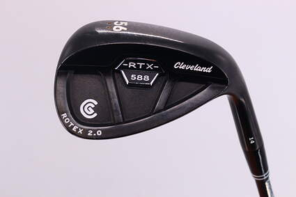 Cleveland 588 RTX CB Black Pearl Wedge Sand SW 56° 14 Deg Bounce Cleveland ROTEX Wedge Graphite Wedge Flex Right Handed 35.5in