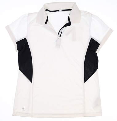 New Womens Daily Sports Golf Polo Large L White MSRP $75